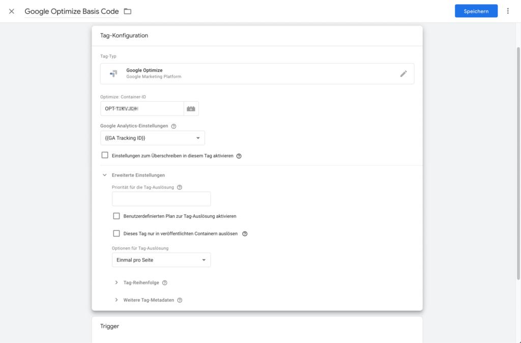 google optimize google tag manager einrichten