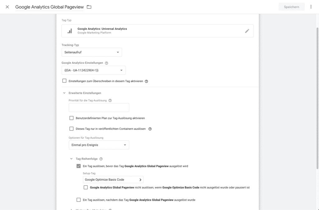google optimize google tag manager installieren