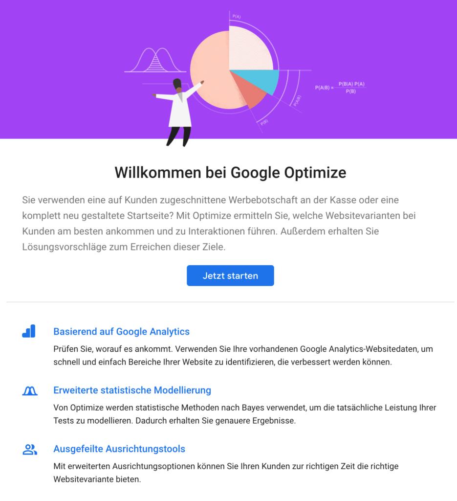 google optimize tutorial account erstellen