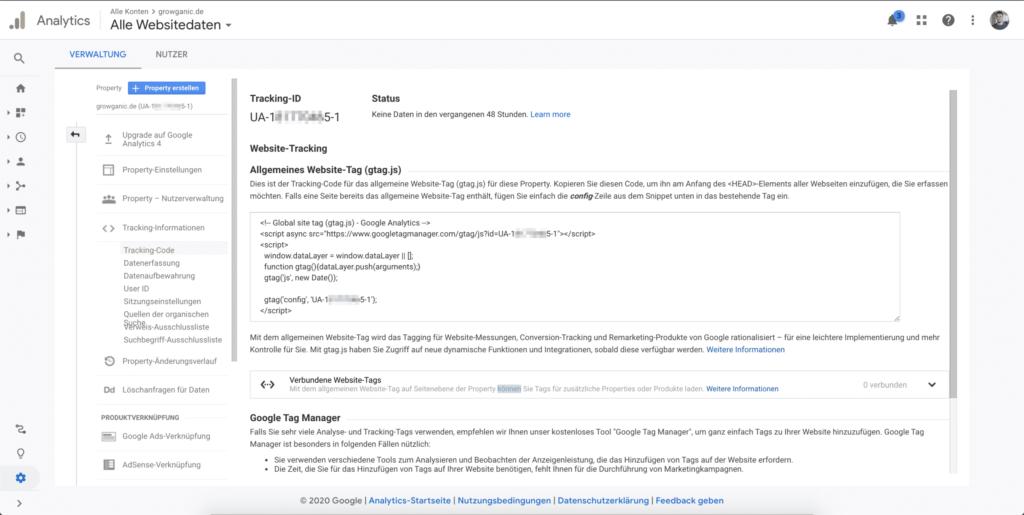 tracking code google analytics shopify