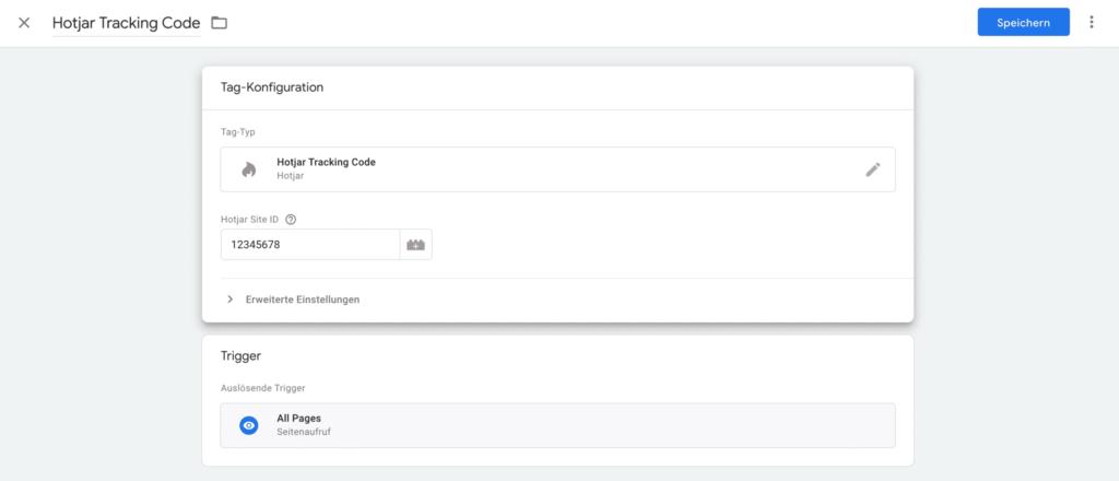 hotjar tag im google tag manager