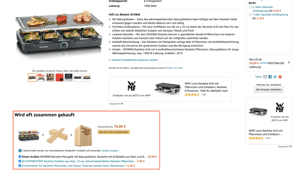 conversion optimierung im online shop cross sell amazon