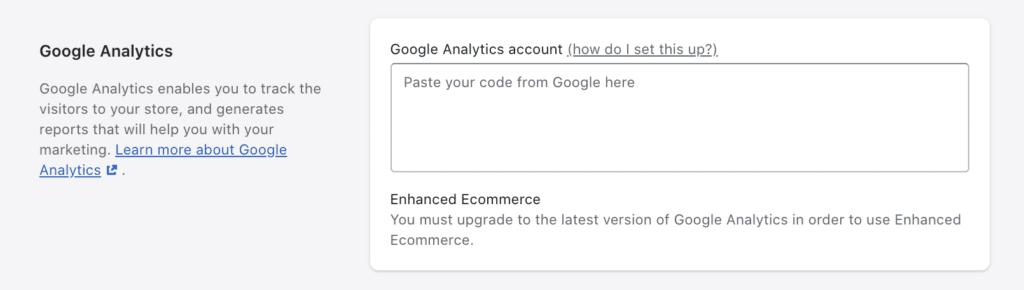 Google Analytics in Shopify einrichten