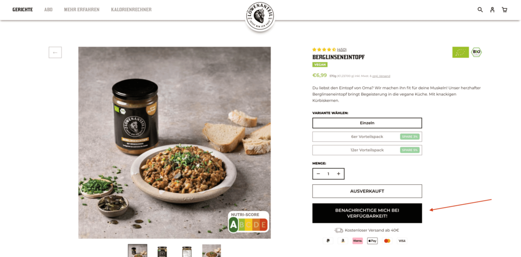 Shopify Out of Stock Automation mit Klaviyo